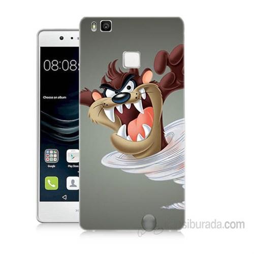 Teknomeg Huawei P9 Lite Tazmanya Canavarı Baskılı Silikon Kapak Kılıf
