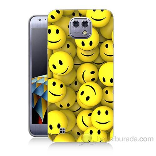 Teknomeg Lg Xcam Smile Baskılı Silikon Kapak Kılıf