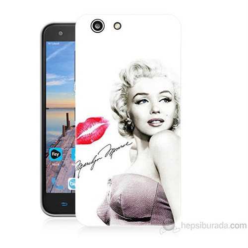 Teknomeg Turkcell T70 Marilyn Monroe Baskılı Silikon Kapak Kılıf