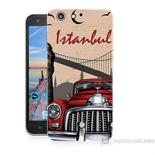 Teknomeg Turkcell T70 İstanbul Baskılı Silikon Kapak Kılıf