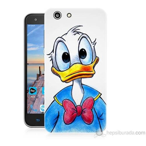 Teknomeg Turkcell T70 Donald Duck Baskılı Silikon Kapak Kılıf