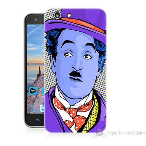 Teknomeg Turkcell T70 Charlie Chaplin Baskılı Silikon Kapak Kılıf