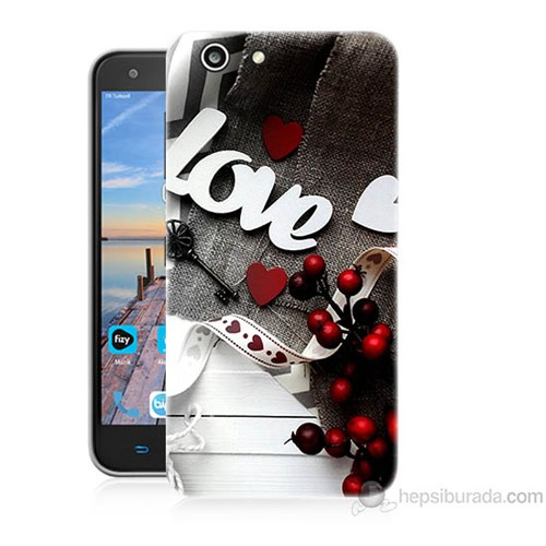 Teknomeg Turkcell T70 Love Baskılı Silikon Kapak Kılıf