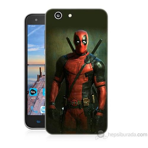 Teknomeg Turkcell T70 Deadpool Baskılı Silikon Kapak Kılıf