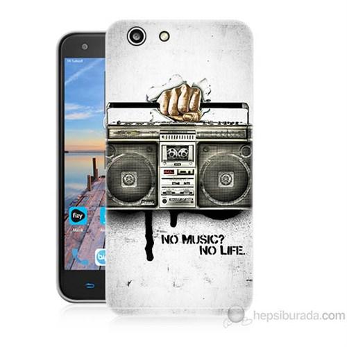 Teknomeg Turkcell T70 Müzik Hayattır Baskılı Silikon Kapak Kılıf