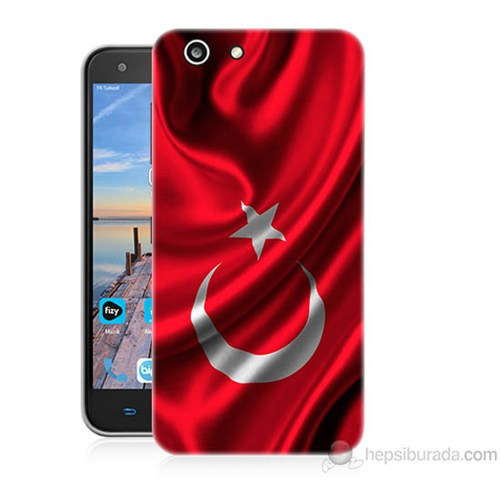 Teknomeg Turkcell T70 Türkiye Bayrağı Baskılı Silikon Kapak Kılıf