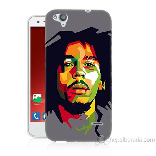 Teknomeg Turkcell T60 Bob Marley Baskılı Silikon Kapak Kılıf