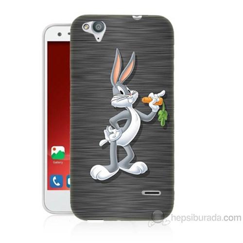 Teknomeg Turkcell T60 Bugs Bunny Baskılı Silikon Kapak Kılıf