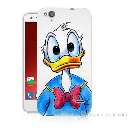 Teknomeg Turkcell T60 Donald Duck Baskılı Silikon Kapak Kılıf