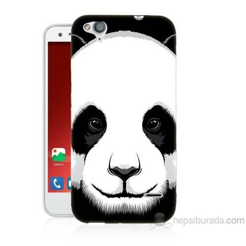 Teknomeg Turkcell T60 Panda Baskılı Silikon Kapak Kılıf