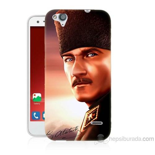 Teknomeg Turkcell T60 Mustafa Kemal Baskılı Silikon Kapak Kılıf