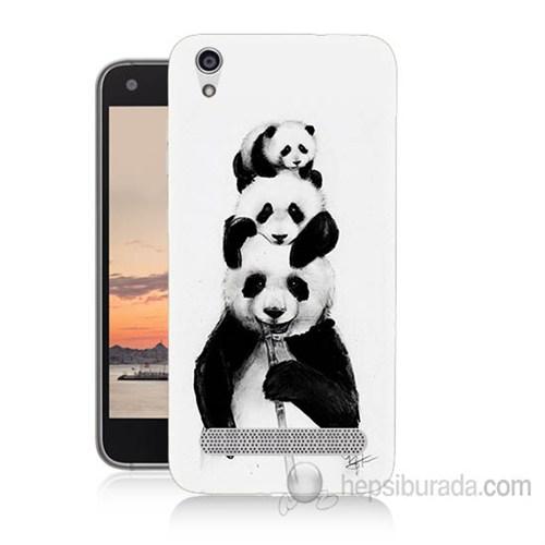 Teknomeg Vestel Venüs V3 5020 Panda Ailesi Baskılı Silikon Kapak Kılıf
