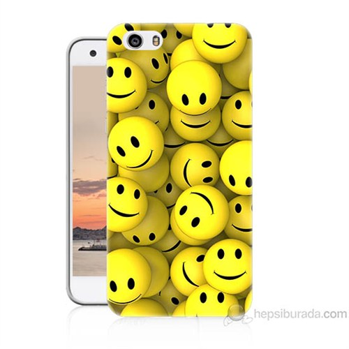 Teknomeg Vestel Venüs V3 5570 Smile Baskılı Silikon Kapak Kılıf
