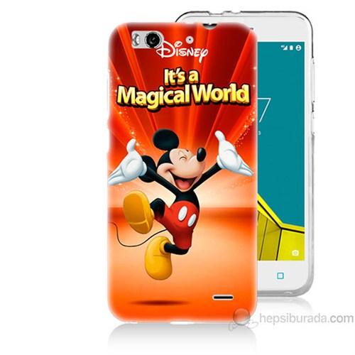 Teknomeg Vodafone Smart 6 Mickey Baskılı Silikon Kapak Kılıf