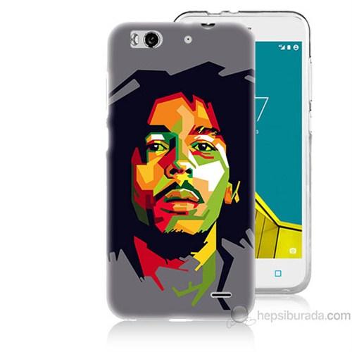 Teknomeg Vodafone Smart 6 Bob Marley Baskılı Silikon Kapak Kılıf
