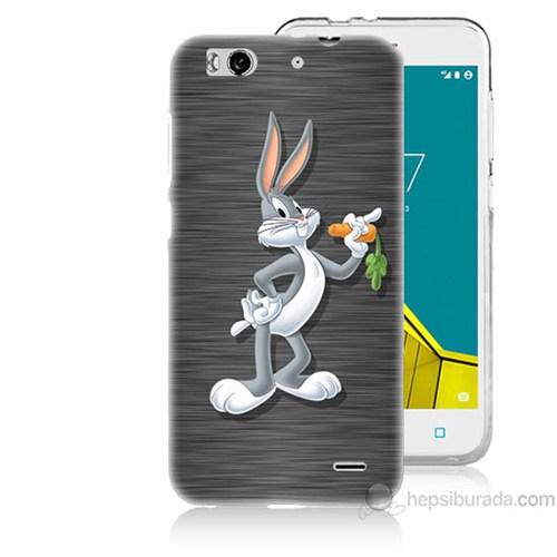Teknomeg Vodafone Smart 6 Bugs Bunny Baskılı Silikon Kapak Kılıf