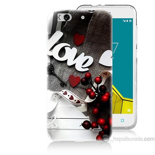 Teknomeg Vodafone Smart 6 Love Baskılı Silikon Kapak Kılıf