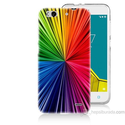Teknomeg Vodafone Smart 6 Renkler Baskılı Silikon Kapak Kılıf