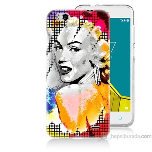 Teknomeg Vodafone Smart 6 Marilyn Monroe Baskılı Silikon Kapak Kılıf