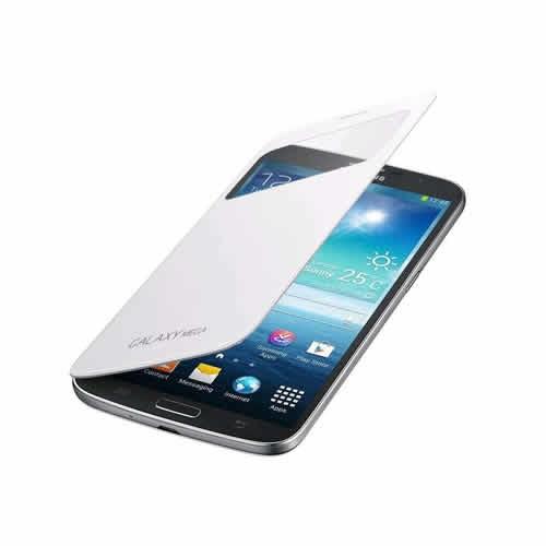 Samsung İ9200 Galaxy Mega Orjinal S View Cover Kılıf - Beyaz Ef-Cı920bwegww
