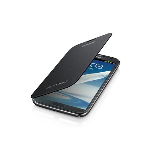 Samsung Note 2 N7100 Kapaklı Kılıf EFC-1J9FSEGSTD Siyah