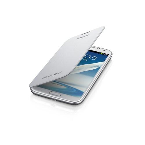 Samsung Note 2 N7100 Kapaklı Kılıf EFC-1J9FWEGSTD Beyaz