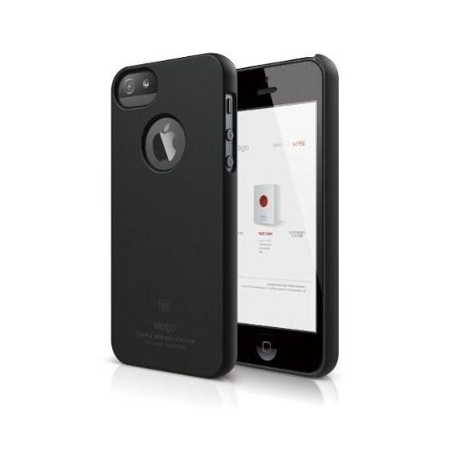 Elago Apple iPhone 5 S5 Slim Fit Series Mat Siyah (Ekran Koruyucu Hediye)
