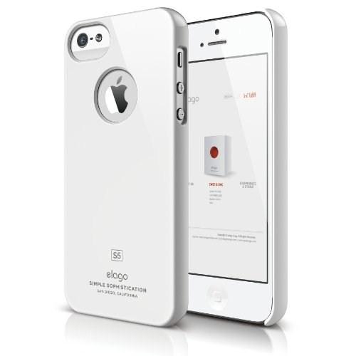 Elago Apple iPhone 5 S5 Slim Fit Series Beyaz (Ekran Koruyucu Hediye)