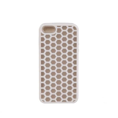 Casefree Apple iPhone 5/5s Petek Kılıf - Beyaz