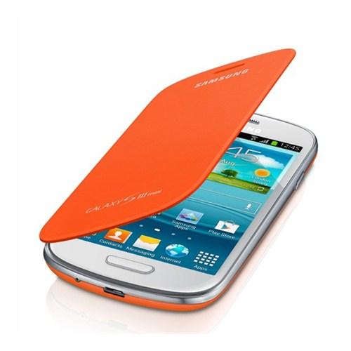Samsung Galaxy S3 Mini Flip Cover Kılıf Turuncu EFC-1M7FOEGSTD