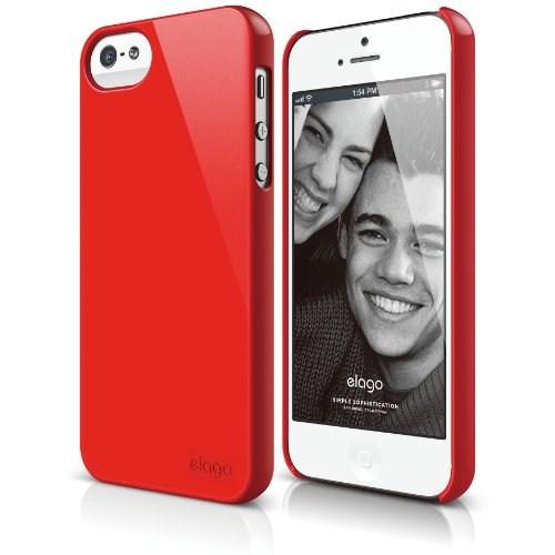 Elago Apple iPhone 5 S5 Slim Fit 2 Series Kırmızı (Ekran Koruyucu Hediye)