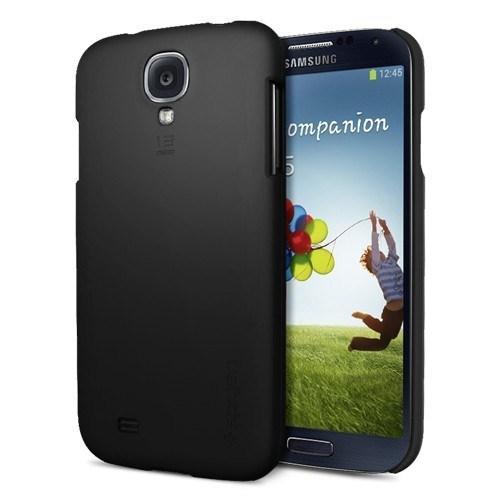 Spigen Sgp Samsung Galaxy S4 Kılıf i9500 Slim Ultra Fit Matte Hard - Siyah