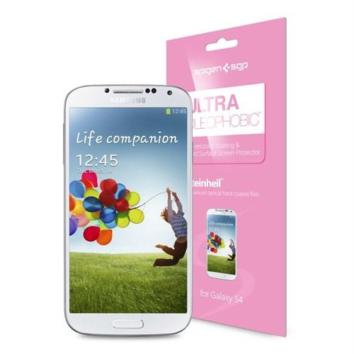 Spigen Sgp Samsung Galaxy S4 i9500 Screen Protector Steinheil Ultra Oleophobic Ekran Koruyucu