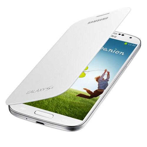 Samsung i9500 Galaxy S4 Kapaklı Kılıf Beyaz EF-FI950BWEGWW