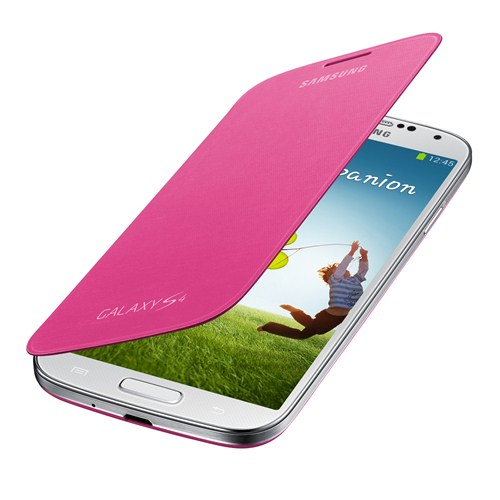Samsung i9500 Galaxy S4 Kapaklı Kılıf Pembe EF-FI950BPEGWW