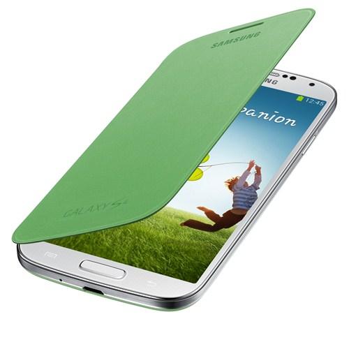 Samsung i9500 Galaxy S4 Kapaklı Kılıf Yeşil EF-FI950BGEGWW