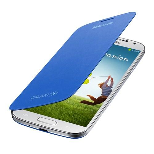 Samsung i9500 Galaxy S4 Kapaklı Kılıf Mavi EF-FI950BCEGWW