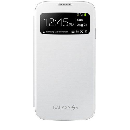 Samsung Galaxy S4 i9500 - S View Kapaklı Kılıf Beyaz EF-CI950BWEGWW