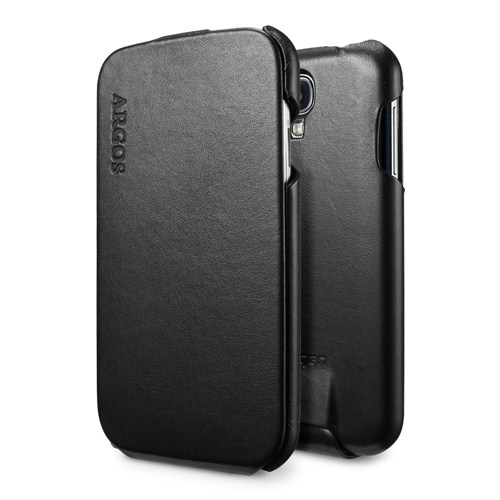 Spigen Sgp Samsung Galaxy S4 i9500 Leather Argos Kapaklı Kılıf - Siyah