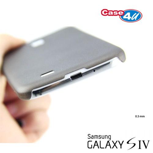 Case 4U Samsung i9500 Galaxy S4 Ultra ince 0,3 mm Siyah