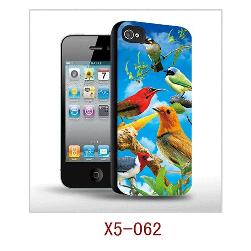 I-Techgear Apple iPhone 5/5s 3D Arka Kapak Renkli Kuşlar X5-062