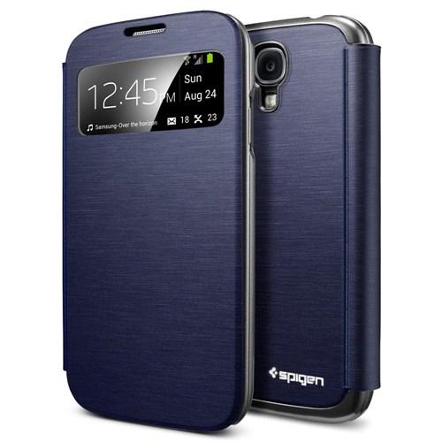 Spigen Sgp Samsung Galaxy S4 i9500 Ultra Flip View Metallic Navy