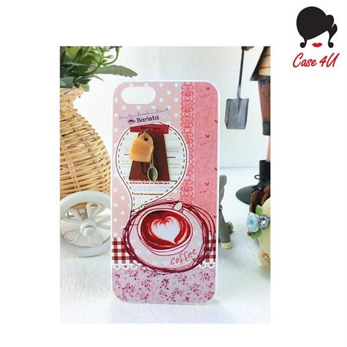Case 4U Ladies Apple iPhone 5/5s Coffee Love Arka Kapak