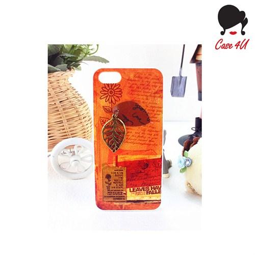 Case 4U Ladies Apple iPhone 5/5s Summer Leaves Arka Kapak*