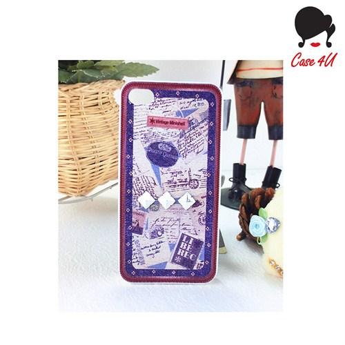 Case 4U Ladies Apple iPhone 5/5s Wintage Shell Arka Kapak
