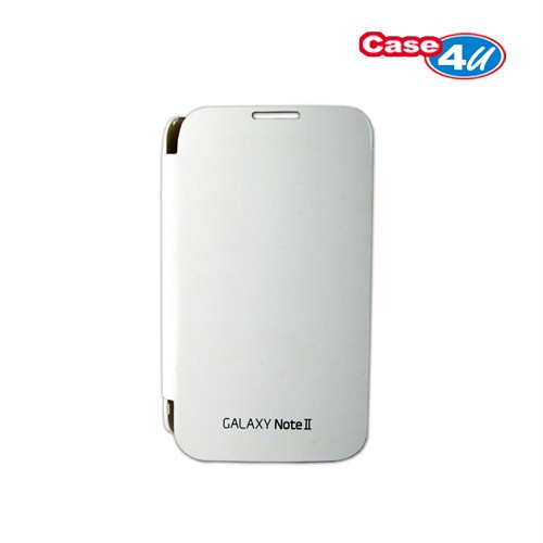 Case 4U Samsung Note 2 N7100 Kapaklı Kılıf Beyaz