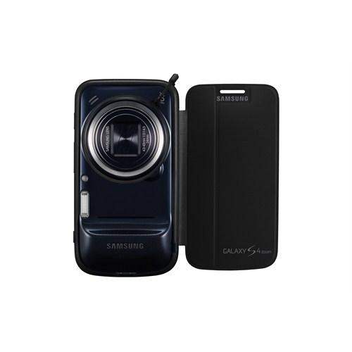 Samsung Galaxy S4 Zoom Kapaklı Kılıf Siyah EF-GGS10FWEGWW