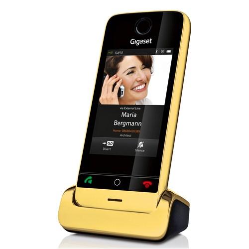 Gigaset Dect Telefon SL910 Gold
