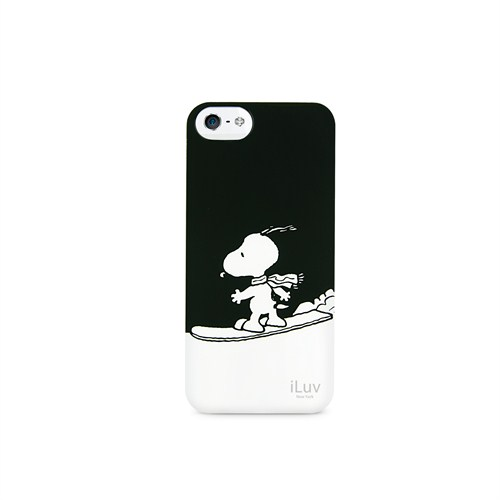 iLuv Apple iPhone 5 Siyah ICA7H383BLK Snoopy Sports Series Hardshell Kılıf