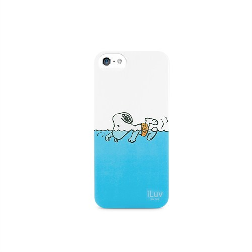 iLuv Apple iPhone 5/5s Beyaz ICA7H383WHT Snoopy Sports Series Hardshell Kılıf